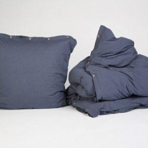 Traumhafte Bettwäsche aus Jersey - blau 155x220 von Yumeko