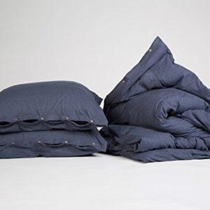 Traumhafte Bettwäsche aus Jersey - blau 200x220 von Yumeko