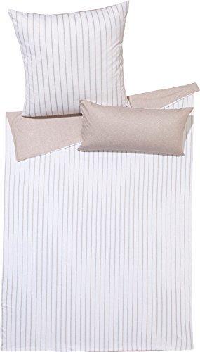 Hübsche Bettwäsche aus Jersey - braun 135x200 von Erwin Müller
