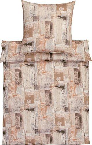 Traumhafte Bettwäsche aus Jersey - braun 135x200 von Estella