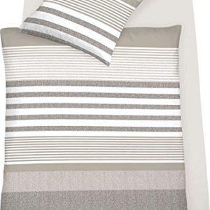 Schöne Bettwäsche aus Jersey - braun 135x200 von Schlafgut