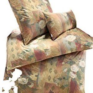 Kuschelige Bettwäsche aus Jersey - braun 155x220 von Estella