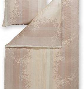 Schöne Bettwäsche aus Jersey - braun 155x220 von Estella