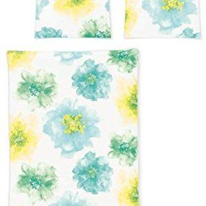 Kuschelige Bettwäsche aus Jersey - gelb 135x200 von Irisette