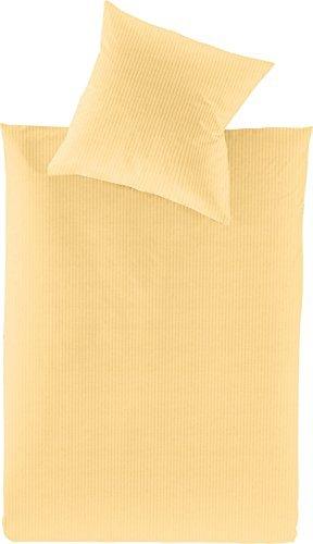 Schöne Bettwäsche aus Jersey - gelb 135x200 von Irisette