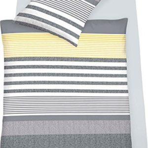 Traumhafte Bettwäsche aus Jersey - gelb 155x220 von Schlafgut