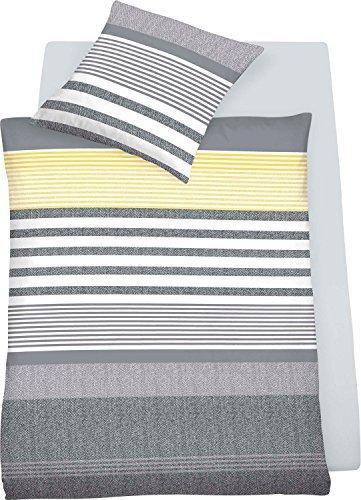 traumhafte bettw sche aus jersey gelb 155x220 von. Black Bedroom Furniture Sets. Home Design Ideas