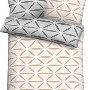Kuschelige Bettwäsche aus Jersey - grau 135x200 von Biberna