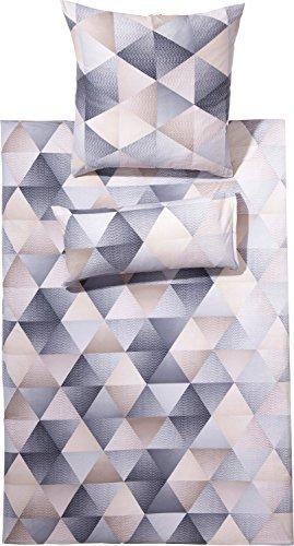 Traumhafte Bettwäsche aus Jersey - grau 135x200 von