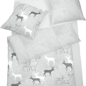 Schöne Bettwäsche aus Jersey - grau 135x200 von