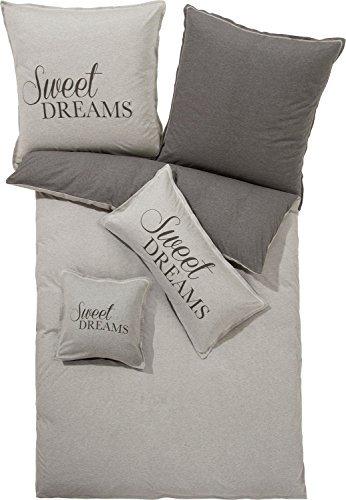 Traumhafte Bettwäsche aus Jersey - grau 135x200 von Erwin Müller