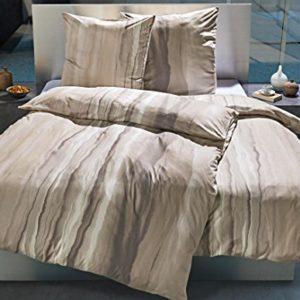 Kuschelige Bettwäsche aus Jersey - grau 135x200 von Estella