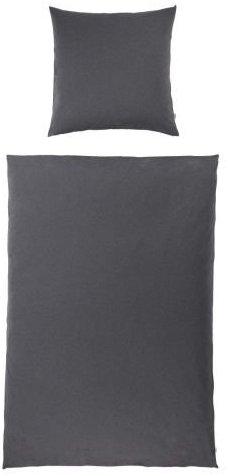 Kuschelige Bettwäsche aus Jersey - grau 135x200 von Kasandria Home & Living