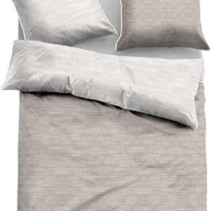 Kuschelige Bettwäsche aus Jersey - grau 135x200 von TOM TAILOR