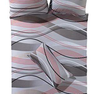 Kuschelige Bettwäsche aus Jersey - grau 155x200 von Erwin Müller