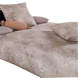 Hübsche Bettwäsche aus Jersey - grau 155x220 von Estella Ateliers