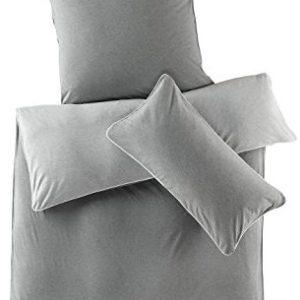 Schöne Bettwäsche aus Jersey - grau 155x220 von hessnatur