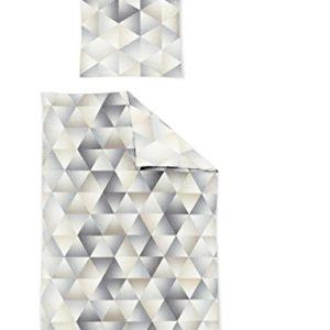 Hübsche Bettwäsche aus Jersey - grau 155x220 von Irisette