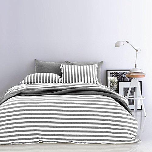 h bsche bettw sche aus jersey grau 155x220 von unbekannt bettw sche. Black Bedroom Furniture Sets. Home Design Ideas
