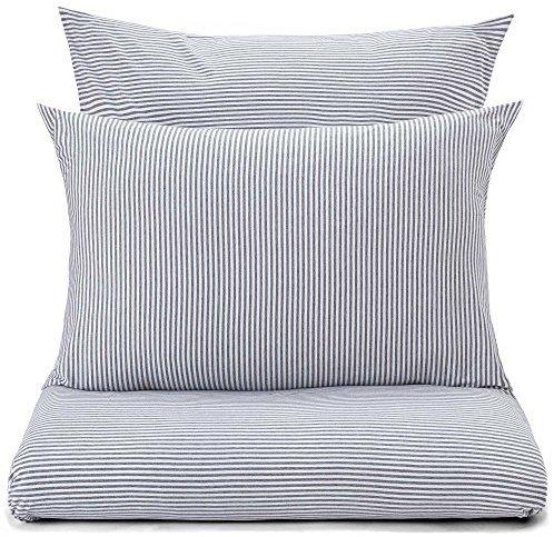 sch ne bettw sche aus jersey grau 155x220 von urbanara. Black Bedroom Furniture Sets. Home Design Ideas