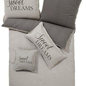 Kuschelige Bettwäsche aus Jersey - grau 200x200 von Erwin Müller