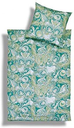 Kuschelige Bettwäsche aus Jersey - grün 135x200 von Estella