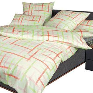 Kuschelige Bettwäsche aus Jersey - grün 135x200 von Janine Design
