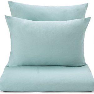 Schöne Bettwäsche aus Jersey - grün 135x200 von URBANARA