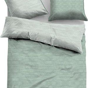 Kuschelige Bettwäsche aus Jersey - grün 155x220 von TOM TAILOR