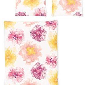 Traumhafte Bettwäsche aus Jersey - rosa 135x200 von Irisette