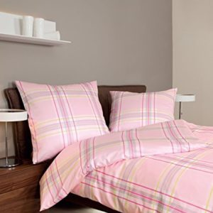 Traumhafte Bettwäsche aus Jersey - rosa 135x200 von Janine Design