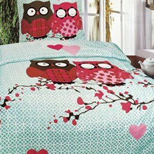 Hübsche Bettwäsche aus Jersey - rosa 135x200 von Leonado Vicenti