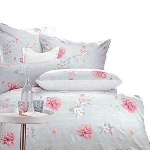 Kuschelige Bettwäsche aus Jersey - rosa 140x200 von Curt Bauer