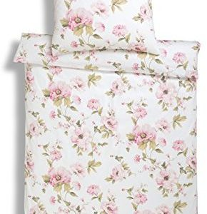 Schöne Bettwäsche aus Jersey - rosa 155x220 von Estella