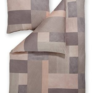 Traumhafte Bettwäsche aus Jersey - Rosen grau 135x200 von Estella Ateliers