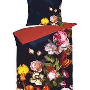 Kuschelige Bettwäsche aus Jersey - rot 135x200 von Brennet