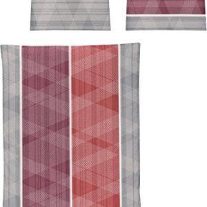 Hübsche Bettwäsche aus Jersey - rot 135x200 von Irisette