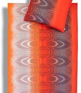 Kuschelige Bettwäsche aus Jersey - rot 155x220 von Estella