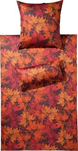 Schöne Bettwäsche aus Jersey - rot 155x220 von Estella