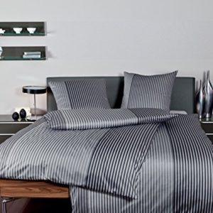 Hübsche Bettwäsche aus Jersey - schwarz 135x200 von Janine