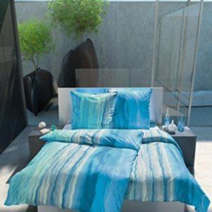 Hübsche Bettwäsche aus Jersey - türkis 135x200 von Estella