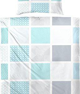 Traumhafte Bettwäsche aus Jersey - türkis 155x220 von Hahn Haustex