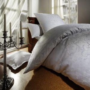 Traumhafte Bettwäsche aus Jersey - weiß 155x220 von Curt Bauer