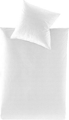 Hübsche Bettwäsche aus Jersey - weiß 155x220 von Irisette