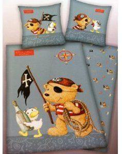 Hübsche Bettwäsche aus Linon - blau 100x135 von FRIP - Versand