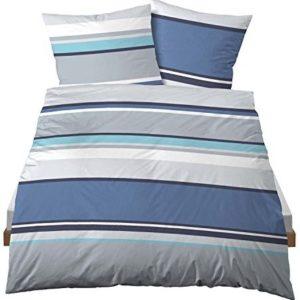Kuschelige Bettwäsche aus Linon - blau 135x200 von Castell