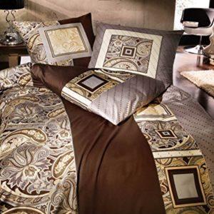 Traumhafte Bettwäsche aus Linon - braun 135x200 von Kaeppel