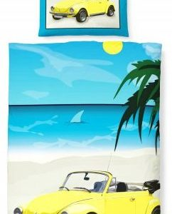 Traumhafte Bettwäsche aus Linon - gelb 135x200 von Biberna