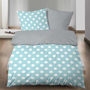 Hübsche Bettwäsche aus Linon - grau 135x200 von Biberna