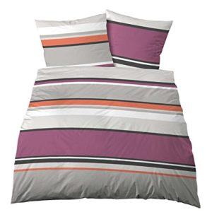 Schöne Bettwäsche aus Linon - grau 135x200 von Castell